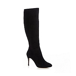 J by Jasper Conran - Black 'Jinny' suede high leg boots