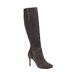J by Jasper Conran - Grey 'Jinny' suede high leg boots