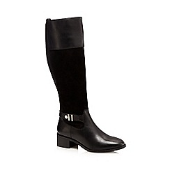 J by Jasper Conran - Black leather calf length boots