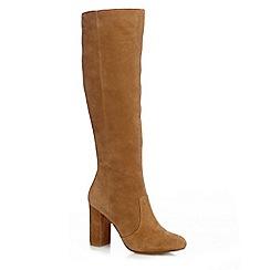 J by Jasper Conran - Tan 'Joda'' suede block heel boots