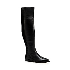 J by Jasper Conran - Black 'Julienne' flat over the knee suede boots