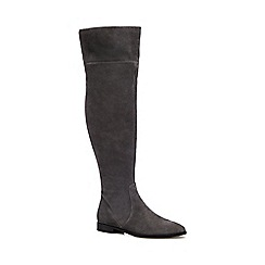 J by Jasper Conran - Grey 'Julienne' flat over the knee suede boots