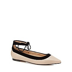 J by Jasper Conran - Light pink ankle tie flat shoes