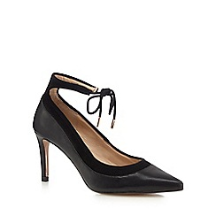 J by Jasper Conran - Black pointed ankle tie high court shoes