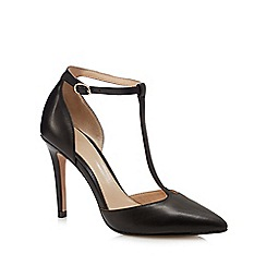 J by Jasper Conran - Black leather 'Jamilla' t-bar court shoes