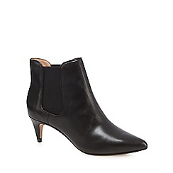 J by Jasper Conran - Black leather pointed high ankle boots
