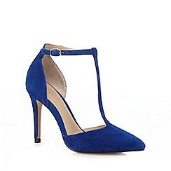 J by Jasper Conran - Blue suede high stiletto heel T-bar shoes
