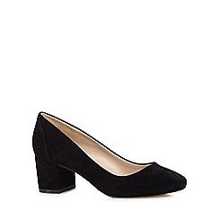 J by Jasper Conran - Black suede mid court shoes