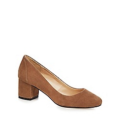 J by Jasper Conran - Brown 'Jeanie' suede block court shoe