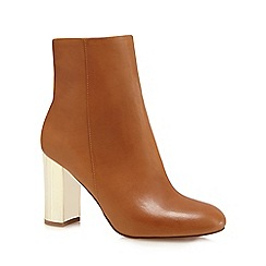 J by Jasper Conran - Tan leather high ankle boots