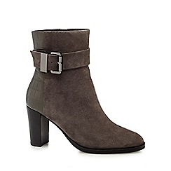 RJR.John Rocha - Grey buckle suede calf length ankle boots
