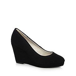 RJR.John Rocha - Black suede high wedge court shoes