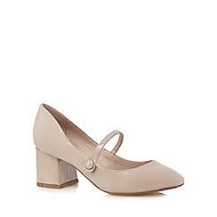 RJR.John Rocha - Light pink patent low Mary Jane court shoes