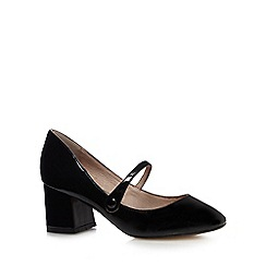 RJR.John Rocha - Black patent low Mary Jane court shoes