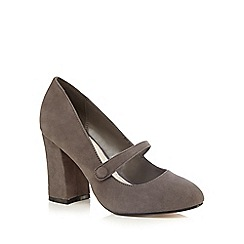 RJR.John Rocha - Grey suede high court shoes