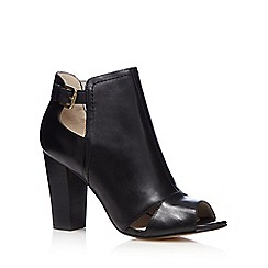 RJR.John Rocha - Black leather cut-out high shoe boots