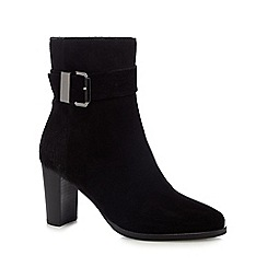 RJR.John Rocha - Black buckle suede calf length ankle boots