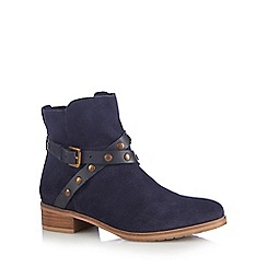 RJR.John Rocha - Navy suede studded strap ankle boots