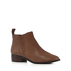 RJR.John Rocha - Tan 'Ruthie' low ankle boots