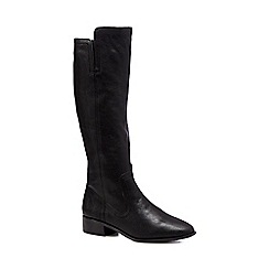 RJR.John Rocha - Black leather knee leg boots