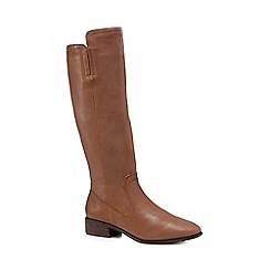 RJR.John Rocha - Tan leather knee leg boots