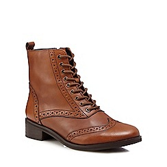 RJR.John Rocha - Brown 'Remi' brogue detail ankle boots
