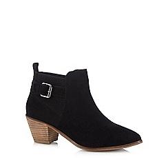 RJR.John Rocha - Black 'Ria' block heel ankle boots