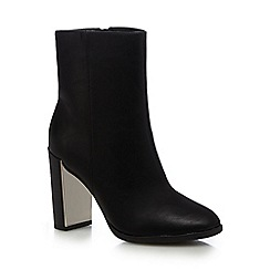 Call It Spring - Black 'Umlalazi' mirrored block heel ankle boots