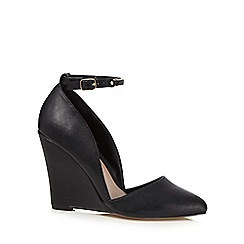 Call It Spring - Black high wedge heel sandals