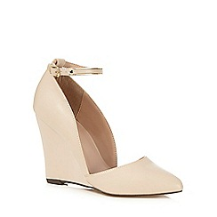 Call It Spring - Nude strappy wedge high heels
