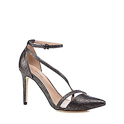 Call It Spring - Grey metallic 'Edoenia' high stiletto heel ankle strap sandals