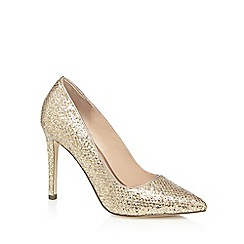 Call It Spring - Gold glitter 'Nusa' high stiletto heel pointed shoes