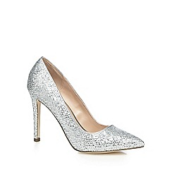 Call It Spring - Silver glitter 'Nusa' high stiletto heel pointed shoes