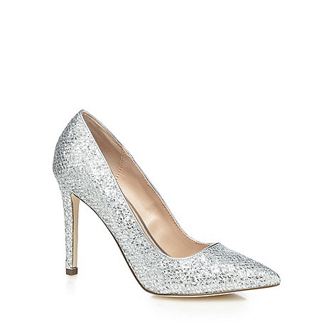 Show All Silver Glitter Shoes Courts Size