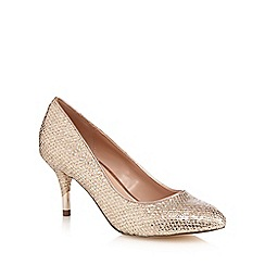 Call It Spring - Gold 'Trescorre' mid heel court shoes