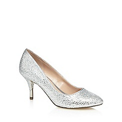 Call It Spring - Silver 'Trescorre' mid heel court shoes