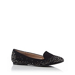 Call It Spring - Black 'Stockdale' stone embellished slip on shoes