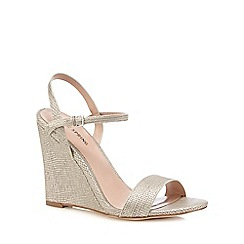 Call It Spring - Silver 'Dweliwiel' high wedge heel sandals