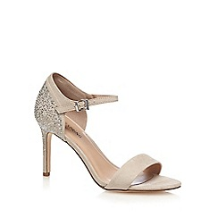 Call It Spring - Cream suedette 'Hewien' high stiletto heel ankle strap sandals