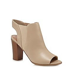 Call It Spring - Natural 'Caduwia' peep toe heels shoe boots