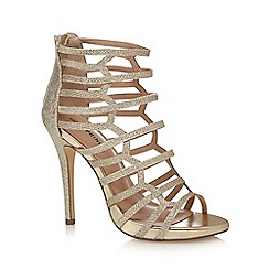 Call It Spring - Gold 'Astausien' high stiletto heel gladiator sandals