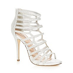 Call It Spring - Silver 'Astausien' high stiletto heel gladiator sandals