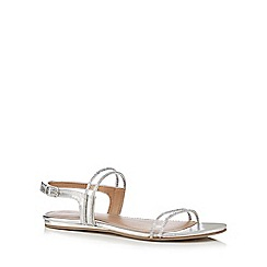 Call It Spring - Silver 'Damery' slingback sandals
