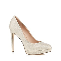 Call It Spring - Gold glitter 'Kedirien' high stiletto heel court shoes