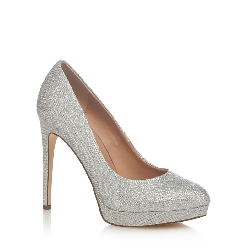 Call It Spring Silver Kedirien high stiletto heel court
