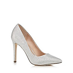 Call It Spring - Silver glitter 'Gwydda' high stiletto heel court shoes