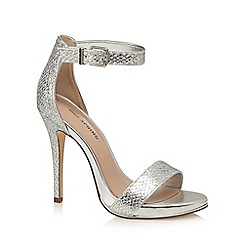 Call It Spring - Silver 'Sheren' high stiletto heel ankle strap sandals