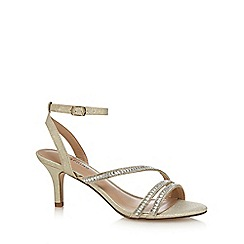 Call It Spring - Gold 'Glerawiel' mid stiletto heel ankle strap sandals