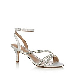 Call It Spring - Silver 'Glerawiel' high stiletto heel ankle strap sandals