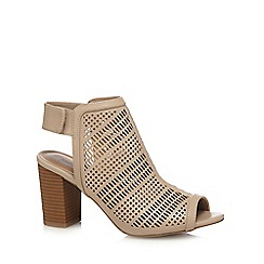 Call It Spring - Cream 'Moanda' high block heel mules
